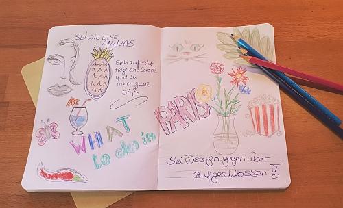 Skizzenbuch für Kreativität